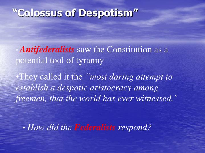 """Colossus of Despotism"""
