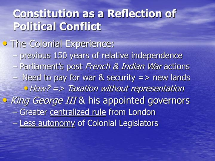 Constitution as a Reflection of Political Conflict