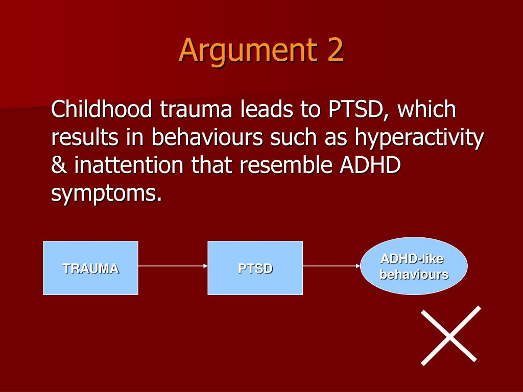Is It Adhd Or Trauma >> Ppt Relationships Between Childhood Trauma Ptsd And Adhd Among