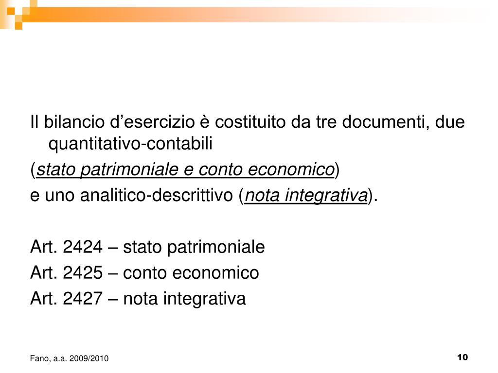 Ppt 11 Struttura E Contenuto Del Bilancio Desercizio Powerpoint