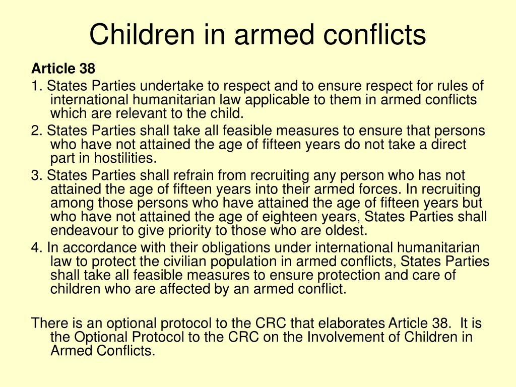 Children in armed conflicts