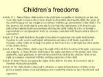 children s freedoms