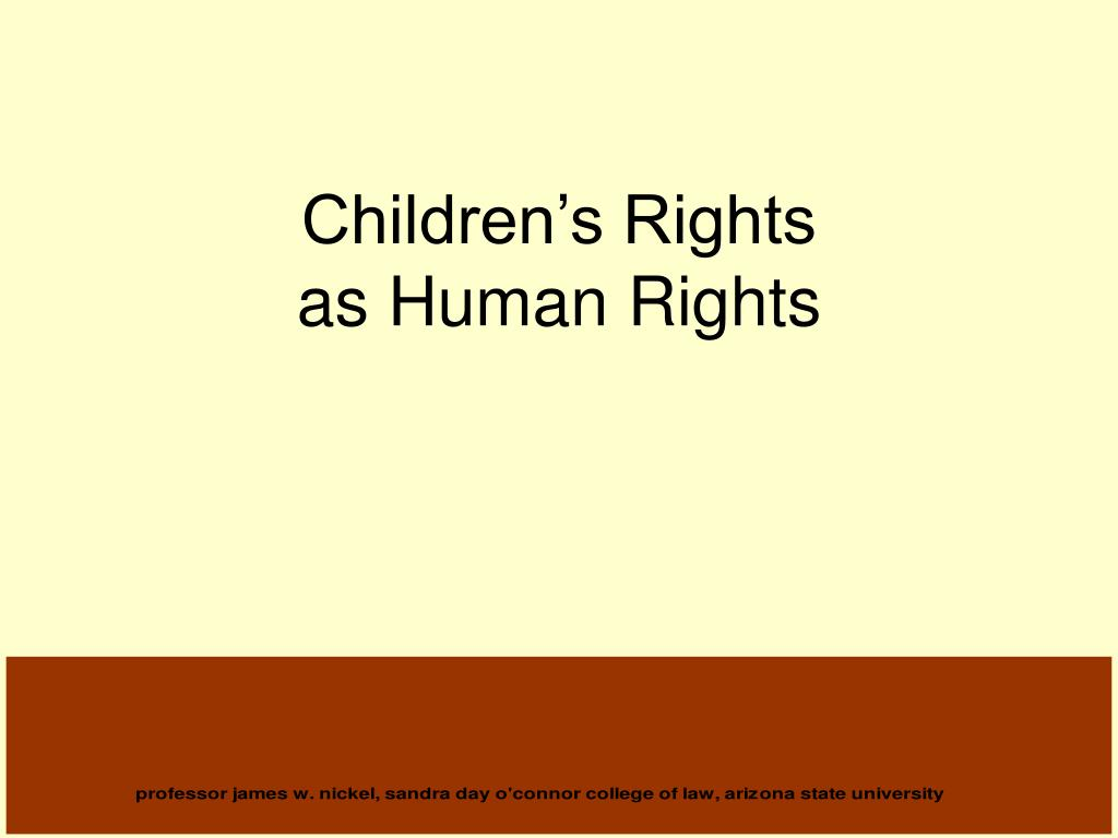 children s rights as human rights l.