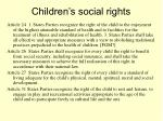 children s social rights