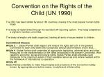 convention on the rights of the child un 1990