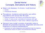 dental home concepts derivations and history