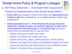 dental home policy program linkages
