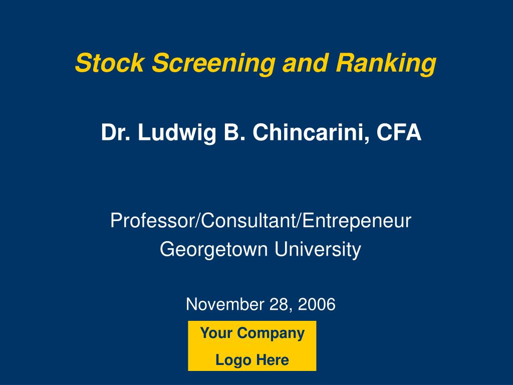 stock screening and ranking l.