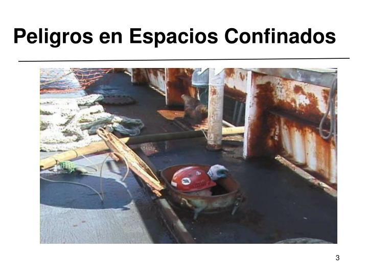 Peligros en espacios confinados