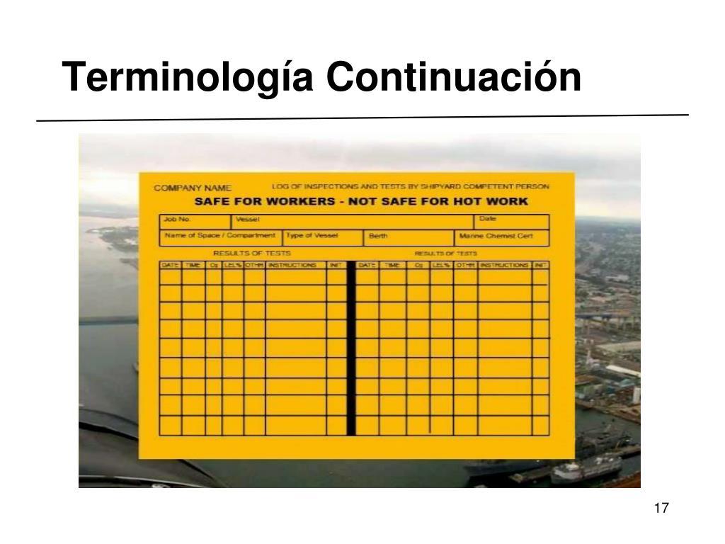 Terminología Continuación