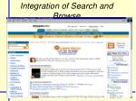 integration of search and browse