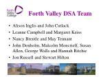 forth valley dsa team