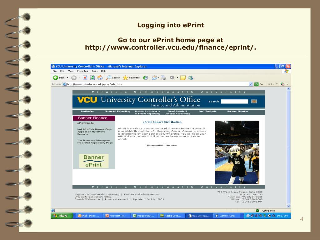 Logging into ePrint