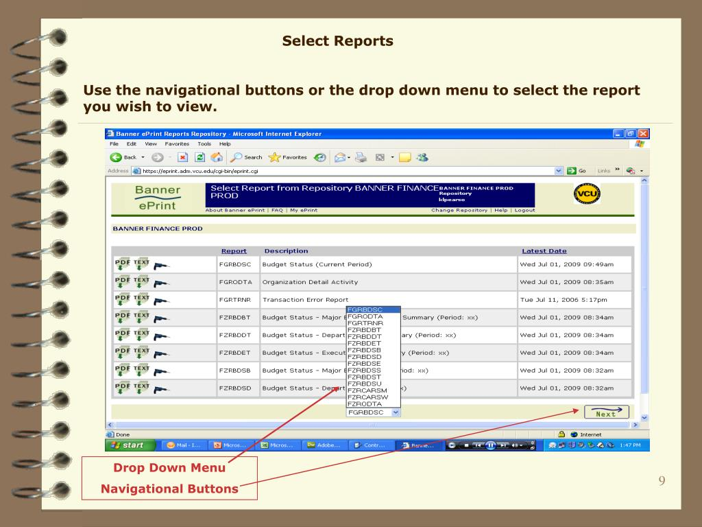 Select Reports