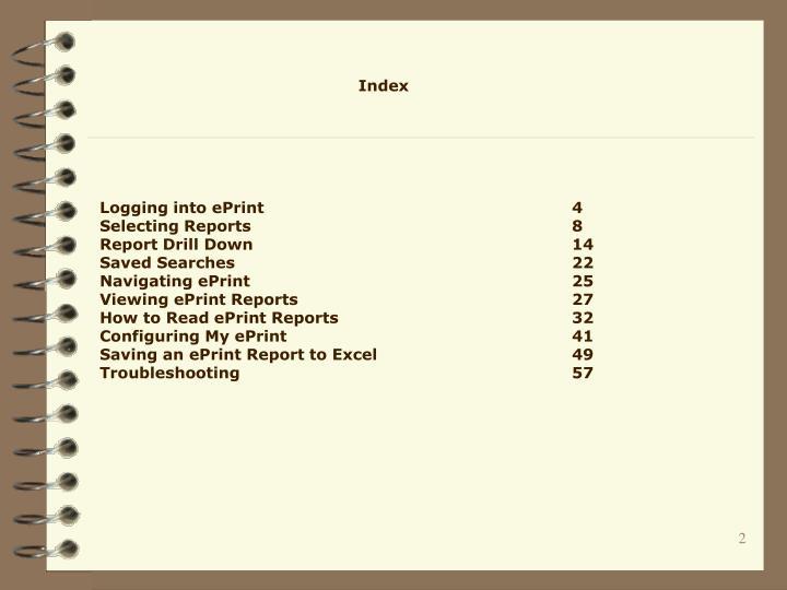 Logging into ePrint4