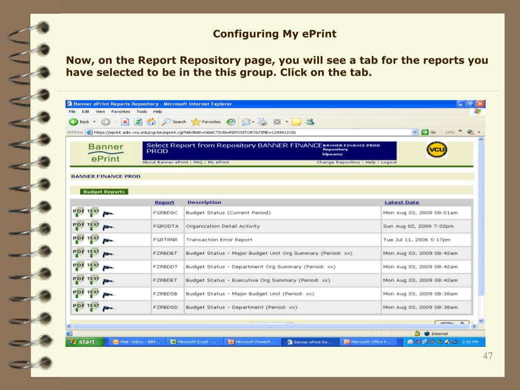 Configuring My ePrint