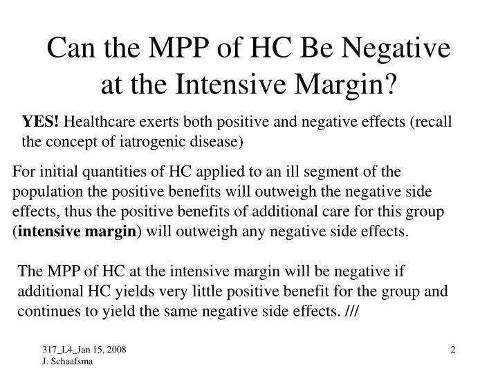 Can the mpp of hc be negative at the intensive margin