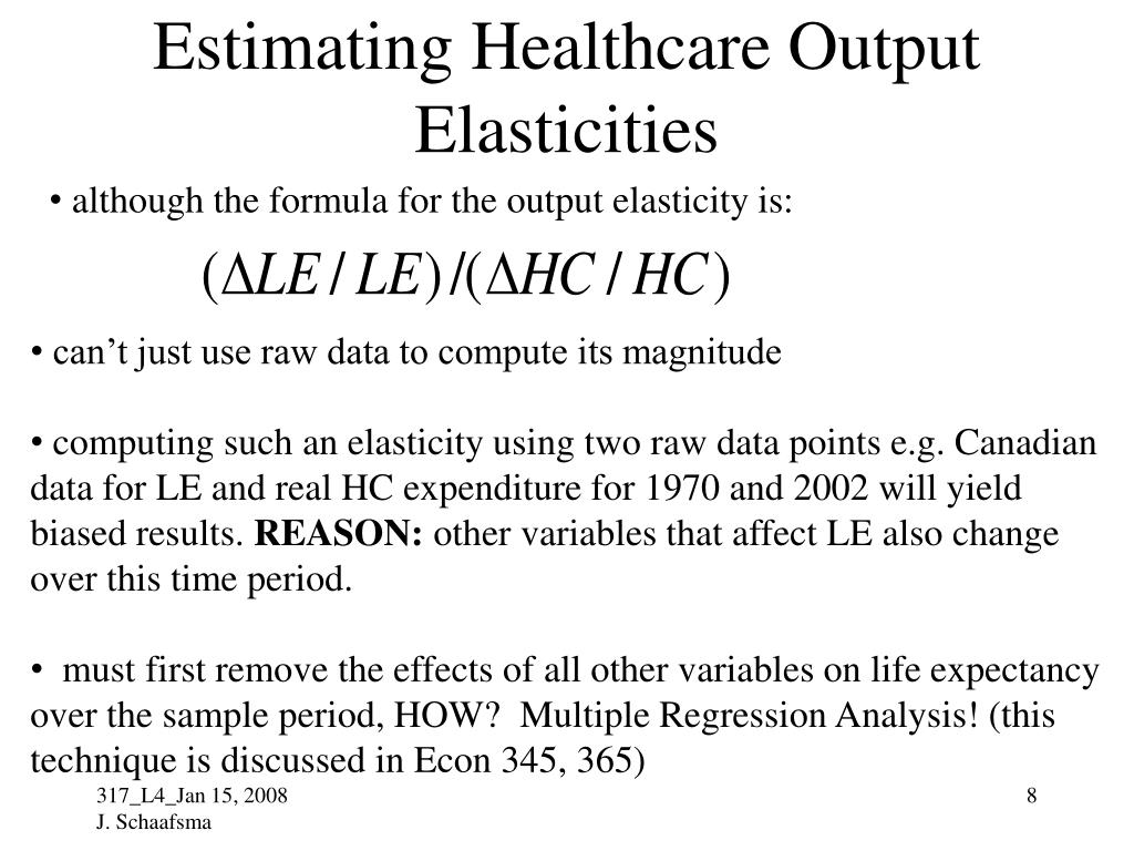 Estimating Healthcare Output Elasticities