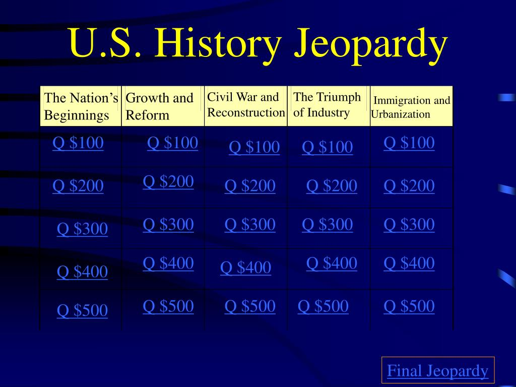 Help me with an powerpoint presentation american history for
