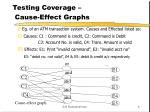 testing coverage cause effect graphs