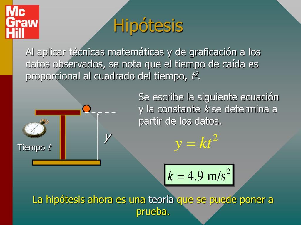 Se escribe la siguiente ecuación y la constante