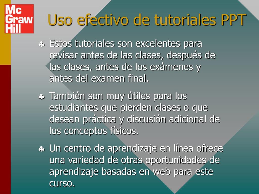 Uso efectivo de tutoriales PPT