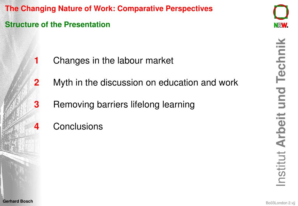 The Changing Nature of Work: Comparative Perspectives