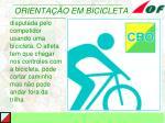 orienta o em bicicleta