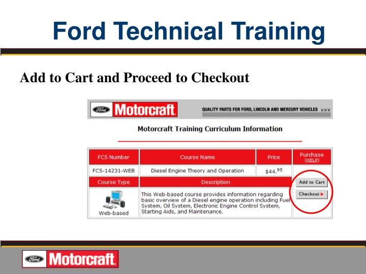 Ppt Quality Jobs Start With Ford Oem Service Information