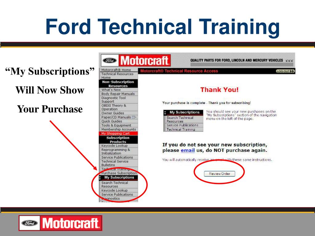 PPT - Quality Jobs Start WITH FORD OEM SERVICE INFORMATION