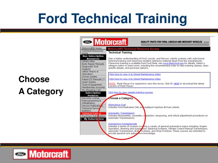 Ppt quality jobs start with ford oem service information for Ford motor company pre employment test
