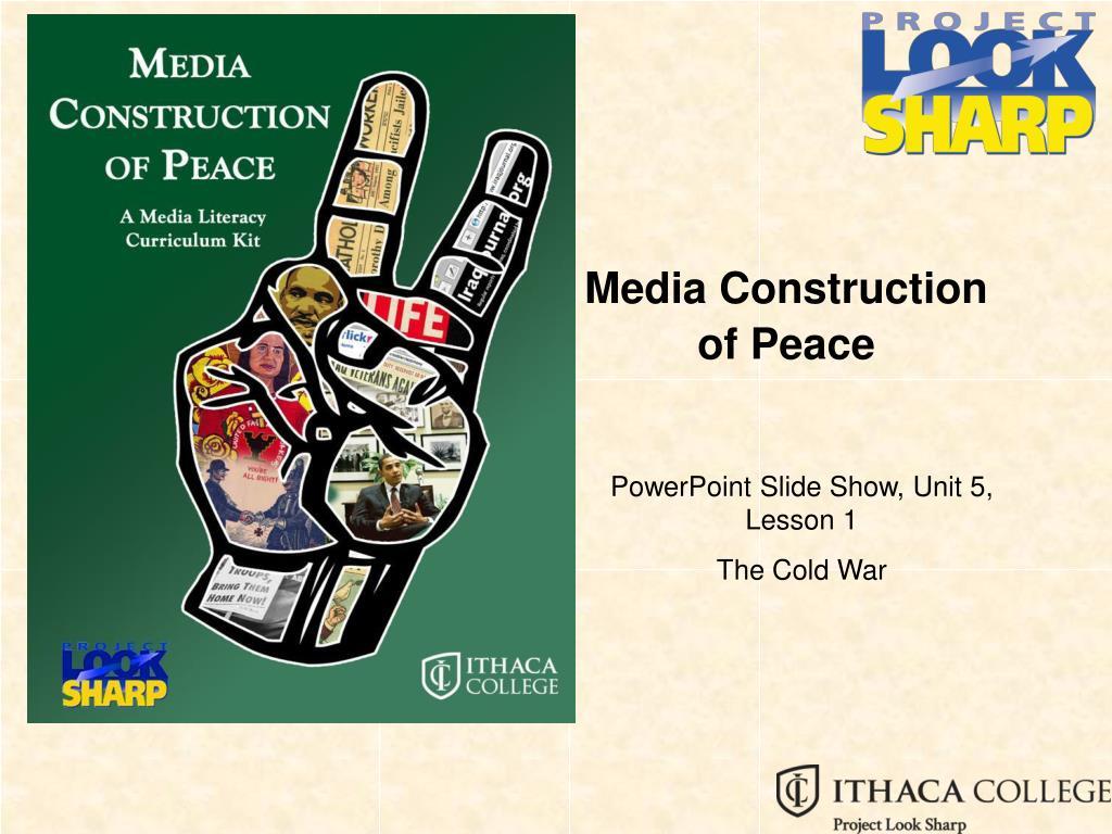 media construction of peace