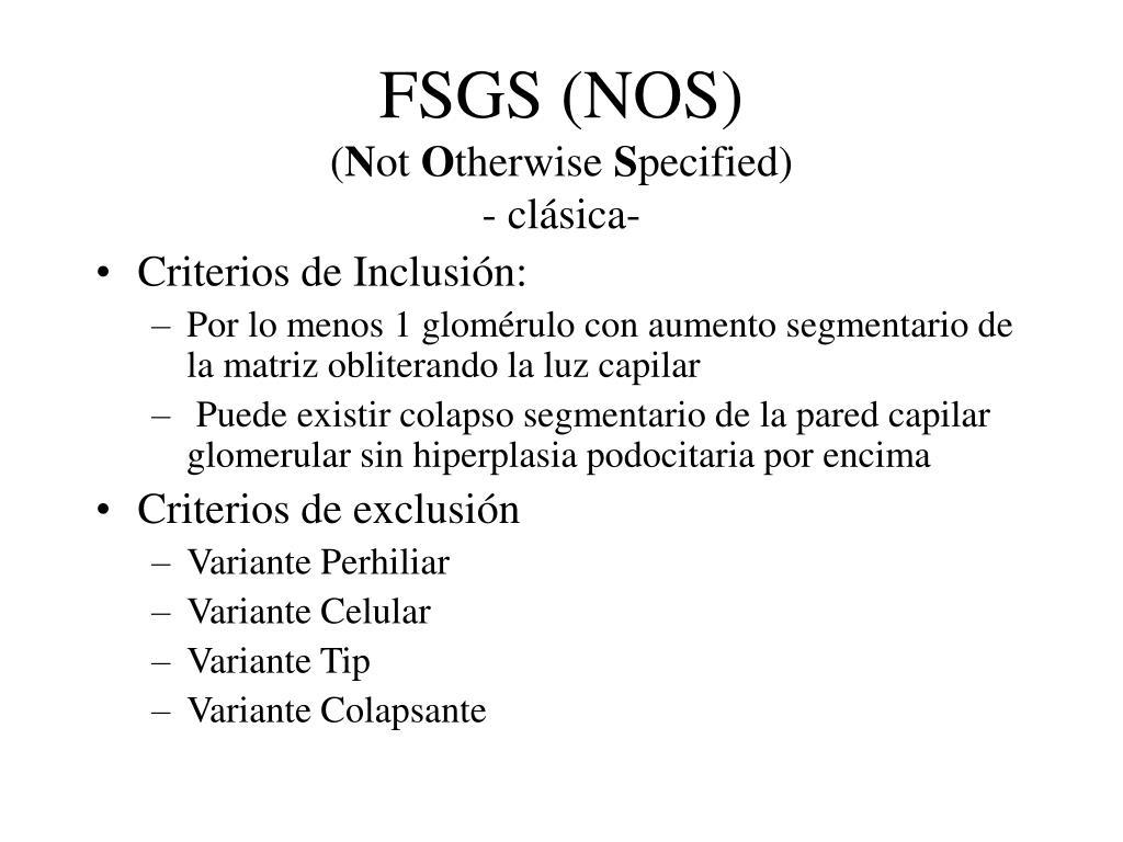 FSGS (NOS)