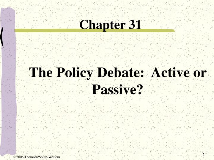 the policy debate active or passive n.