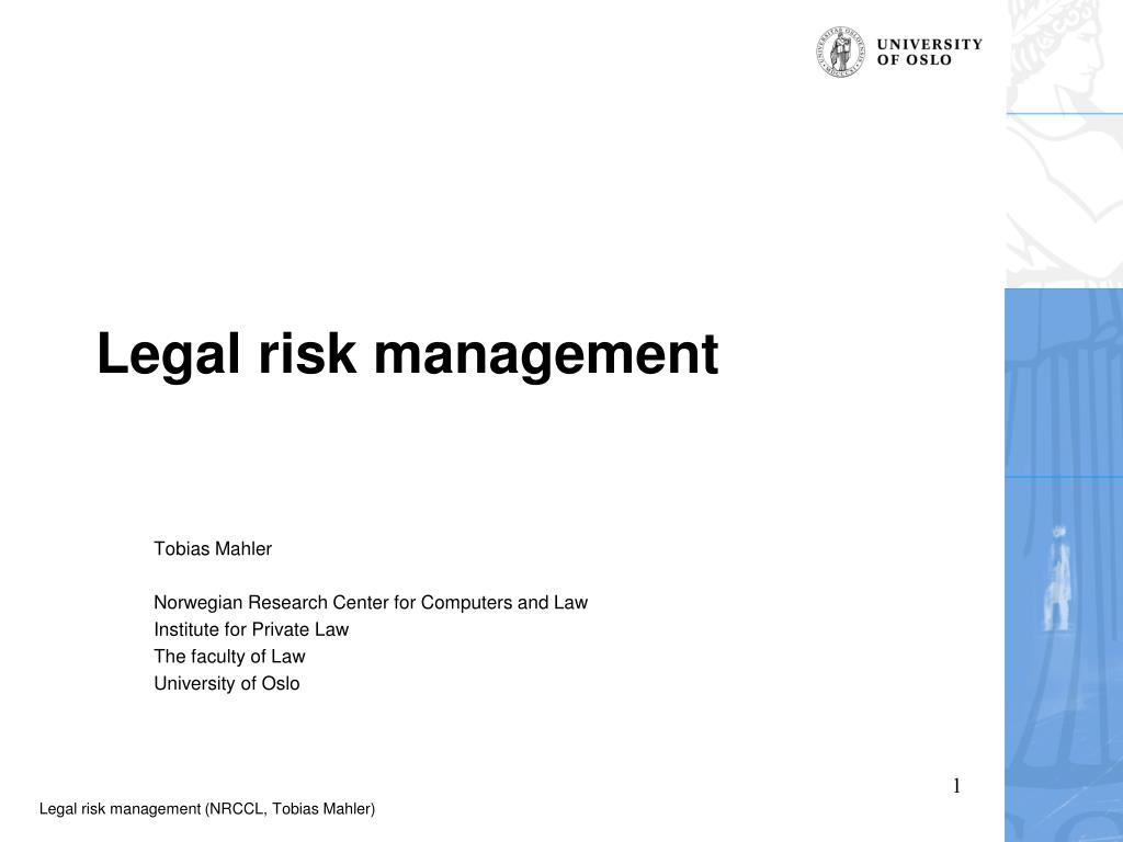 legal risk management l.