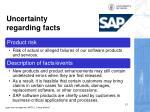 uncertainty regarding facts