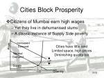cities block prosperity