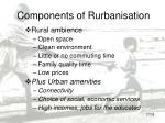 components of rurbanisation