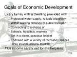 goals of economic development