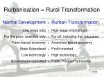 rurbanisation rural transformation