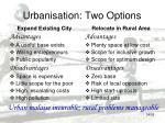 urbanisation two options