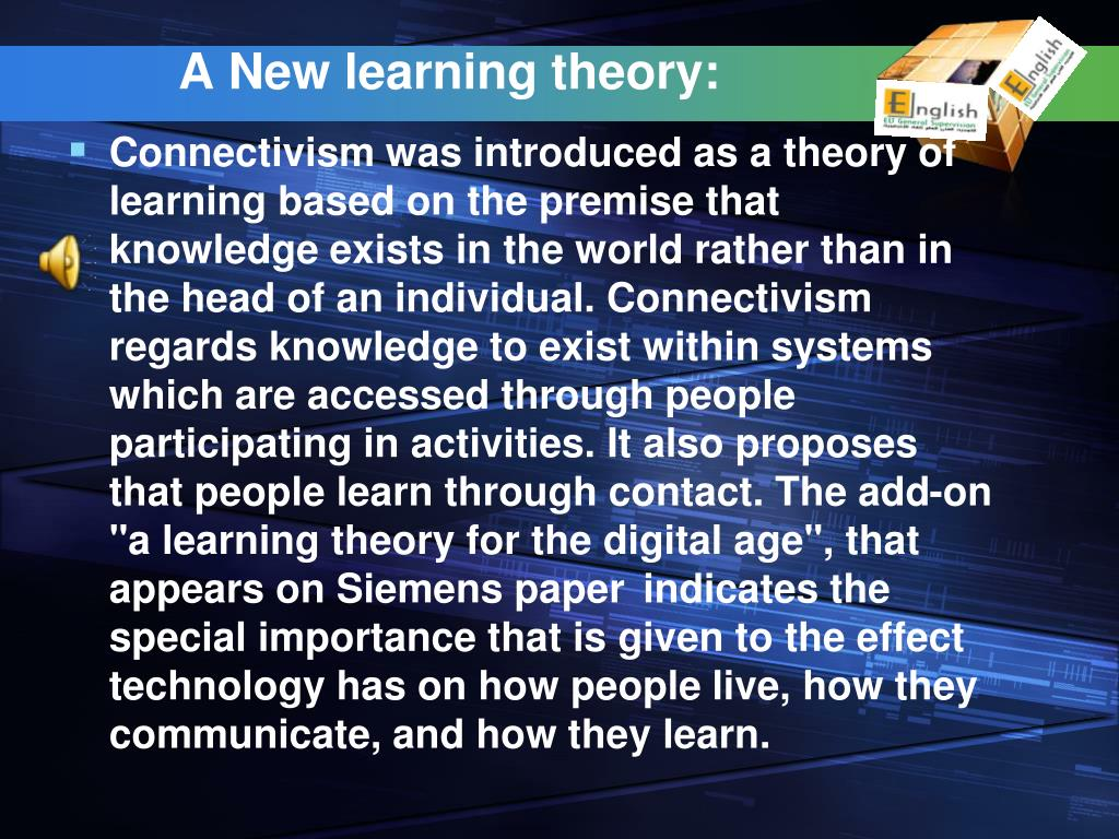 A New learning theory:
