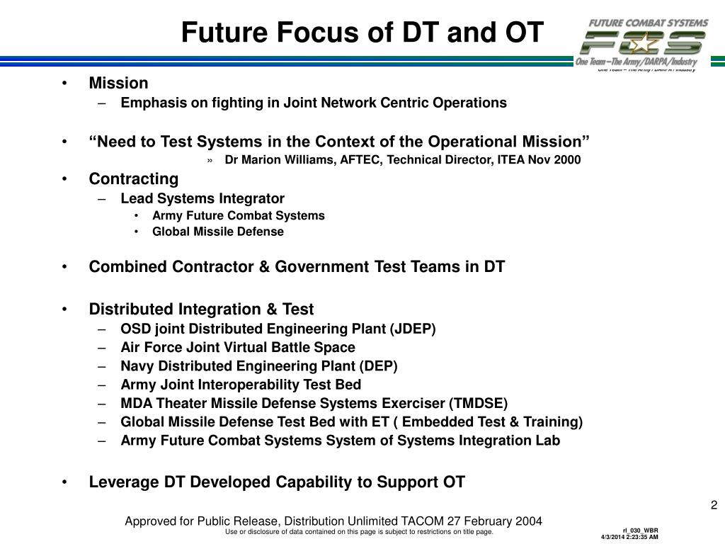 Future Focus of DT and OT