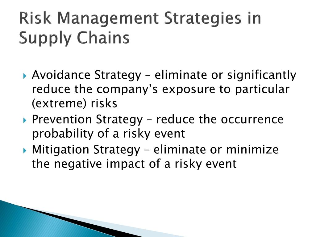 Risk Management Strategies in Supply Chains
