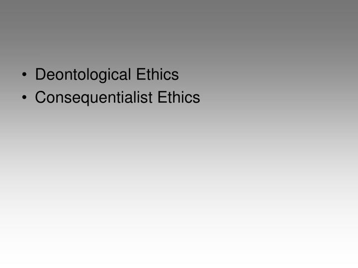 kant's deontological approach to ethics works
