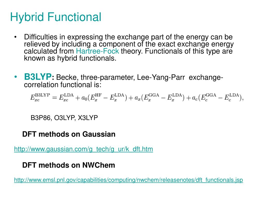 PPT - Electronic Structure Theories (ab initio, DFT) and