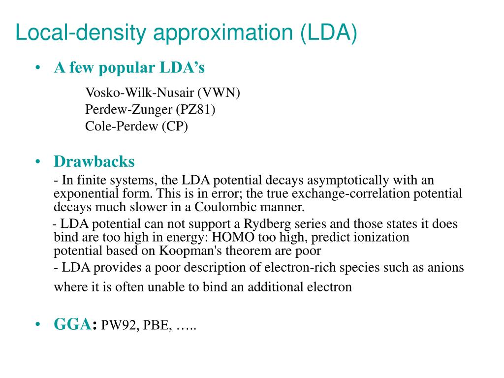 Local-density approximation (LDA)