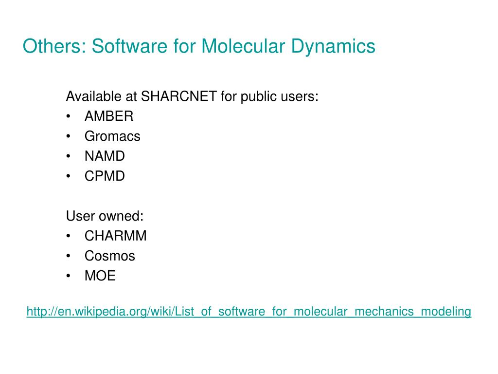 Others: Software for Molecular Dynamics