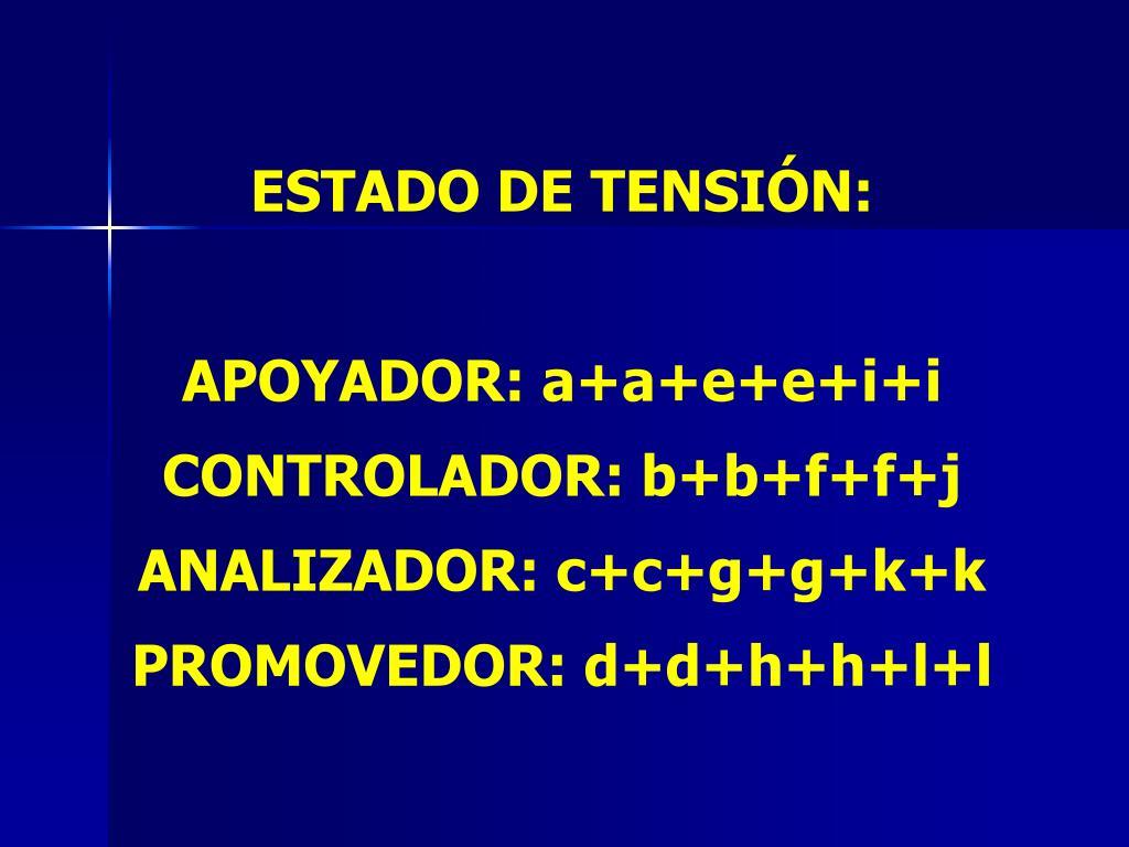 ESTADO DE TENSIÓN: