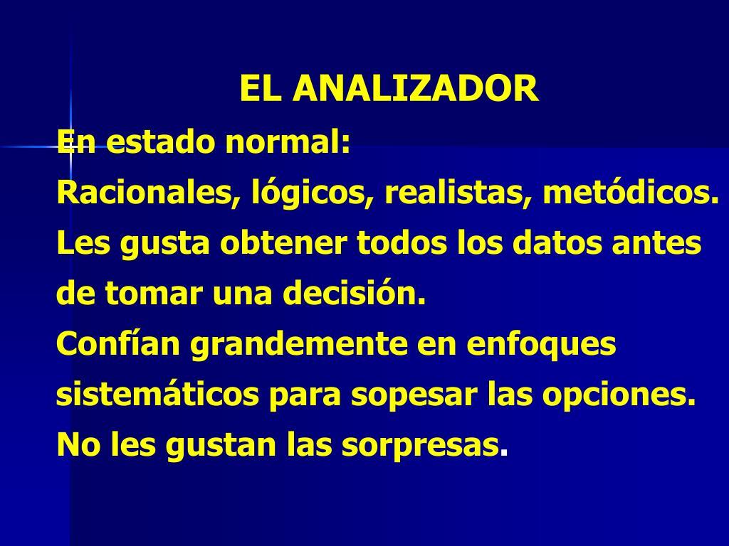 EL ANALIZADOR
